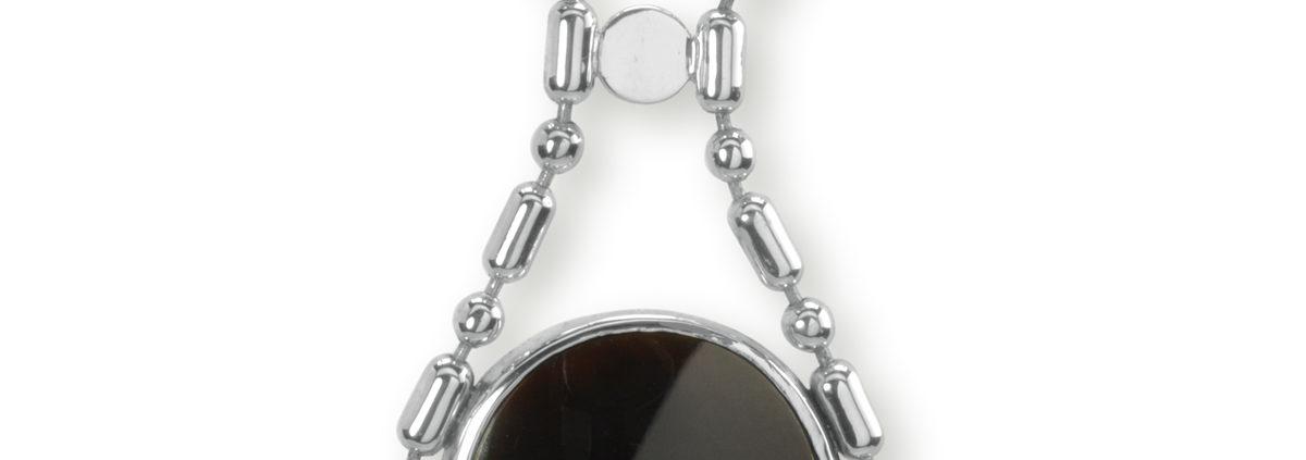 zilveren collier met agaat