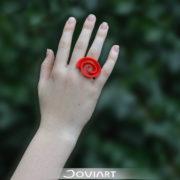 Curly Rose Ring gestileerde roos